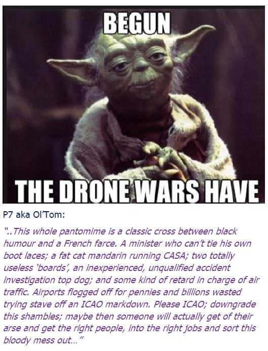 Begun – the drone wars have.