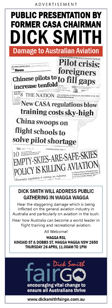 Dick Smith – Damage to Australian Aviation.