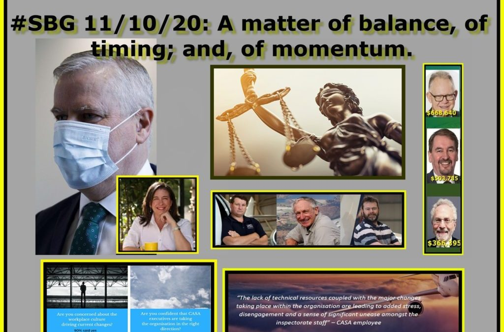 #SBG 11/10/20: A matter of balance, of timing; and, of momentum.