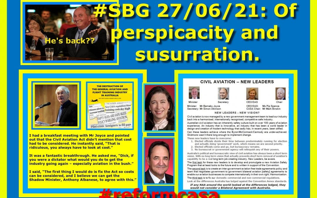 #SBG 27/06/21: Of perspicacity and susurration.