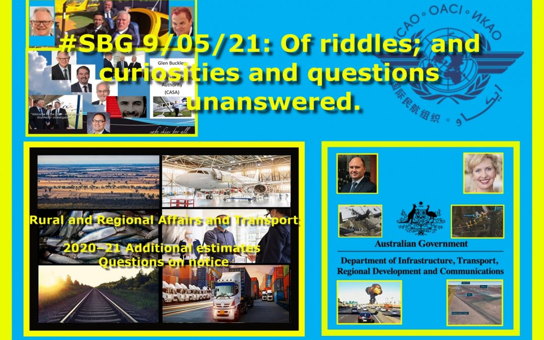 #SBG 9/05/20: Of riddles; and curiosities and questions unanswered.