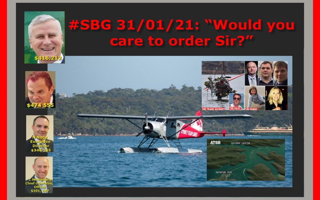 "#SBG 31/01/21: ""Would you care to order Sir?"""